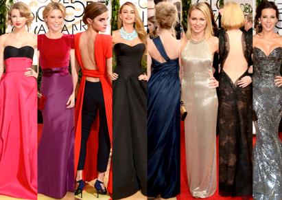 Las Mejor Vestidas de los Golden Globe Awards 2014