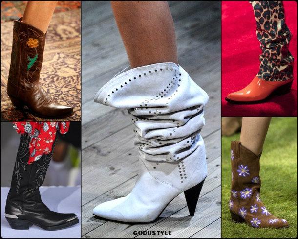 cowboy, shoes, summer 2019, zapatos, verano 2019, trends, tendencias, zapatos moda, fashion shoes, runway, pasarela